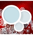 Red Christmas design with space for text vector image
