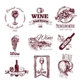 Wine Vintage Badge Set vector image