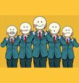 vintage set of smiley face emoji people vector image