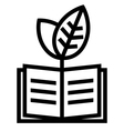 Ecology book icon vector image