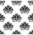 Floral damask seamless pattern background vector image vector image