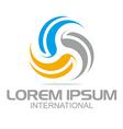 spin wheel element color shape logo vector image