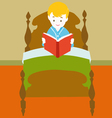 child reading book vector image
