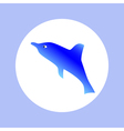 dolphin in circle vector image