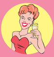 Champagne Lady vector image
