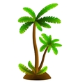 Palm tree sign vector image