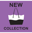 Fashionable bag vector image