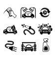 Car wash icons black and white vector image