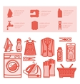 Icons set laundry room vector image