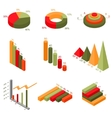 Infographics Elements Charts and Graphs Set vector image