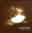 lightning in bottle vector image