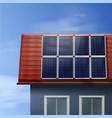 portable solar panels vector image