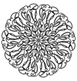 Round Ornament Pattern Snowflakes Vintage vector image