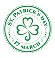 St patrick stamp clover vector image