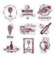 Wine Vintage Badge Set vector image
