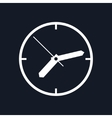 Wall Clock Isolated on Black Background vector image