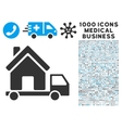 Mobile House Icon with 1000 Medical Business vector image