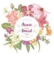 hand drawn botanical wedding invitation vector image