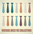 Vintage Neck Tie Collection vector image