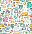 School pattern in color vector image vector image