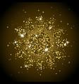 gold shining sun vector image