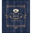 Cover for restaurant menu vector image