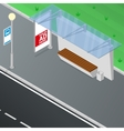Bus stop shelter vector image