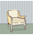 antique chair retro style vector image
