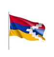 flag of nagorno-karabakh state vector image