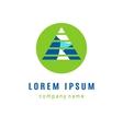 Pyramid creative logo design vector image