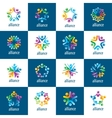 set of logos union people vector image