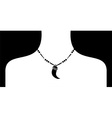 white female silohuette with black neckless vector image
