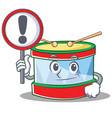 with sign toy drum character cartoon vector image