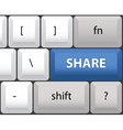 Share key on a computer keyboard vector image vector image