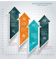 Modern Design template Infographic from Arrows vector image