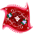 floral tile vector image vector image