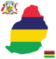 Republic of Mauritius Flag vector image vector image