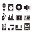Musical icons7 vector image