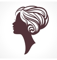Woman face silhouette Female head vector image vector image