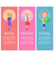articles about children books with vector image