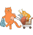cat and food 1 vector image