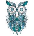 dreamcatcher owl vector image