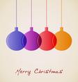 Elegant Christmas decoration background vector image