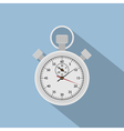 flat stop watch vector image