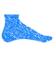 foot grunge icon vector image