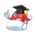 graduation christmas hat character cartoon vector image
