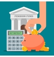 Pension fund concept in flat vector image