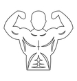 Strong athletic man icon outline style vector image