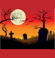 Creepy Graveyard vector image