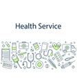 Health service banner vector image